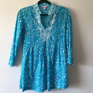 🐳 Lilly Pulitzer Beaded Tunic Top